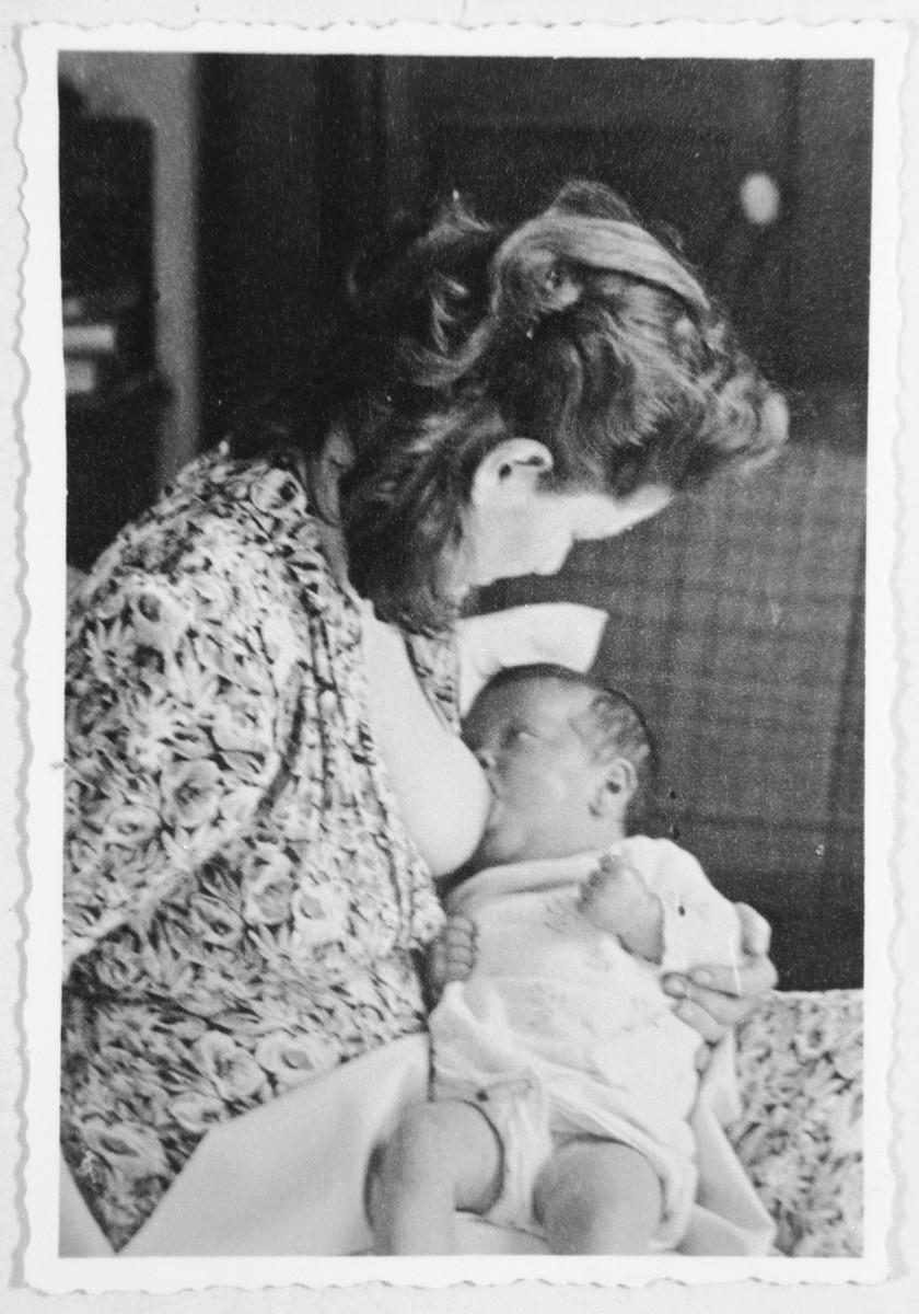 Ursula Tenenbaum breastfeeds her newborn daughter who was born while she was in forced confinement.