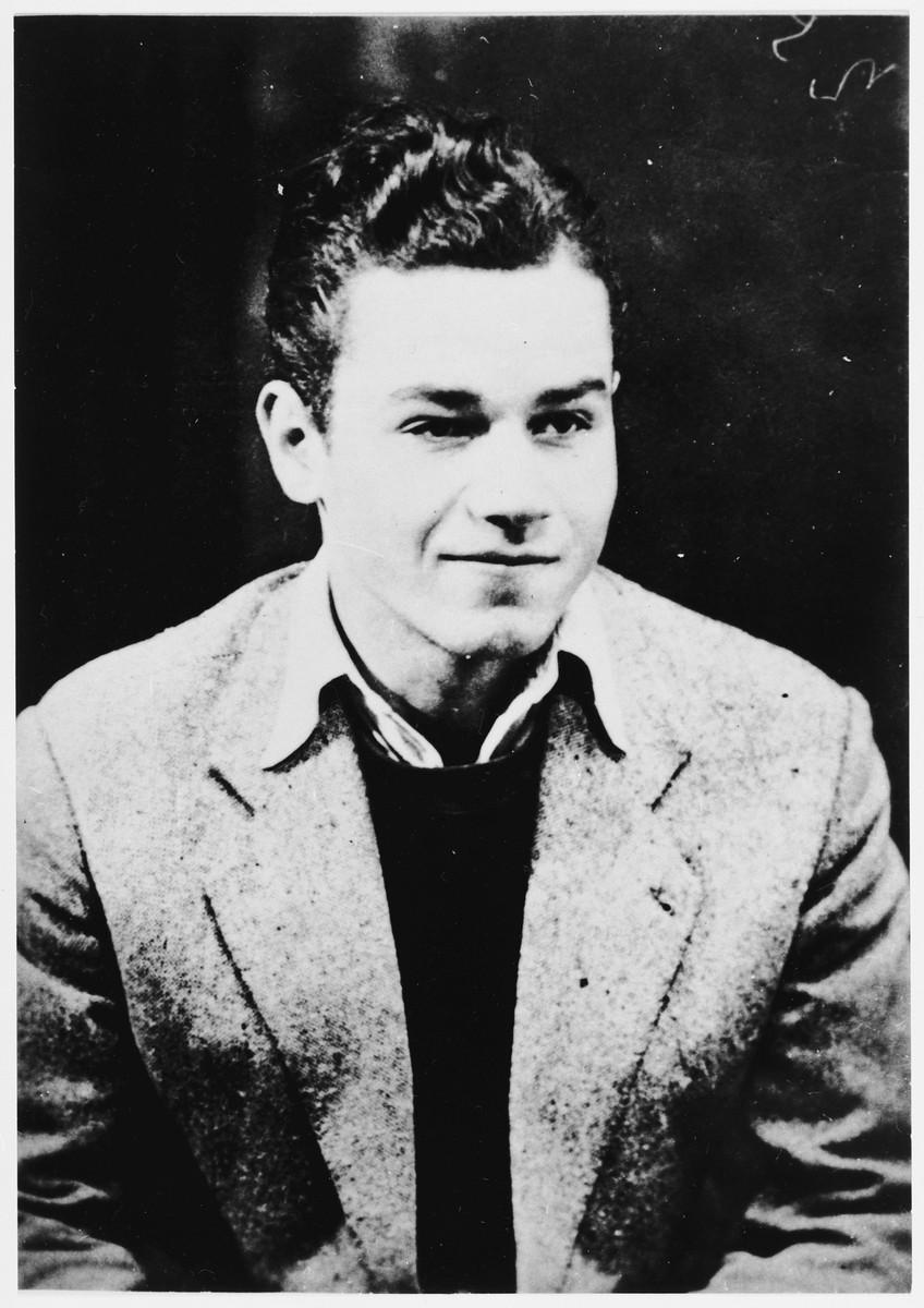 Portrait of Yugoslav partisan Vaso Kovacevic.