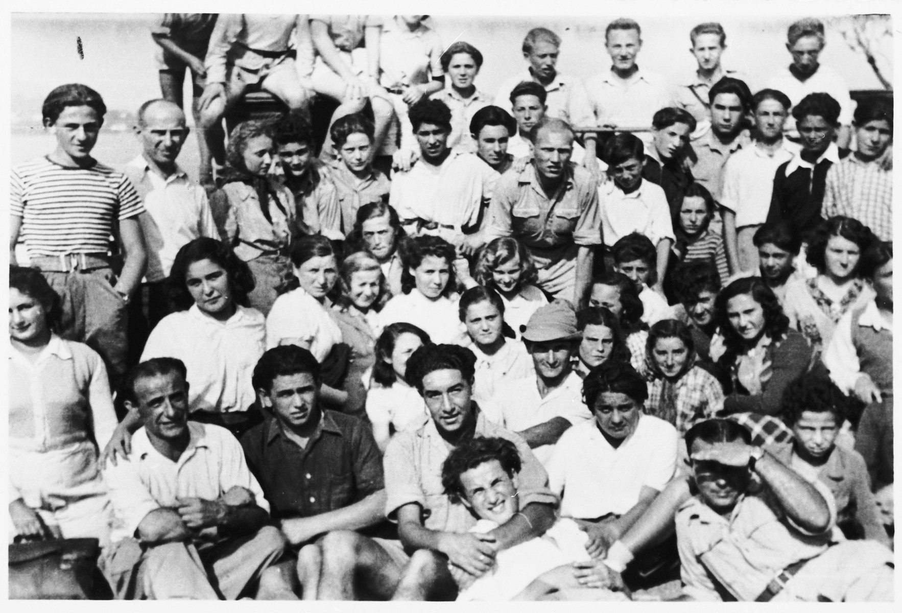 Group portrait of youth at the Selvino Youth Aliyah children's home.