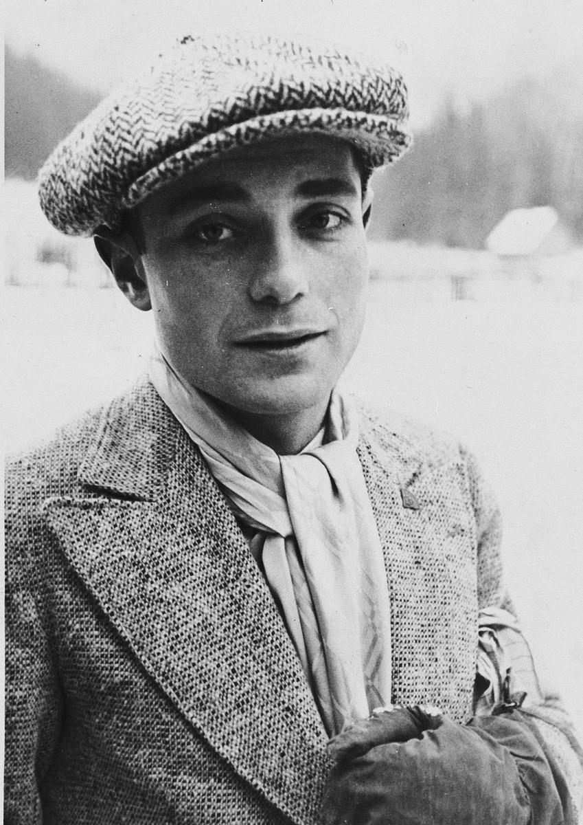 Portrait of Jewish athlete, Ota Margolius.