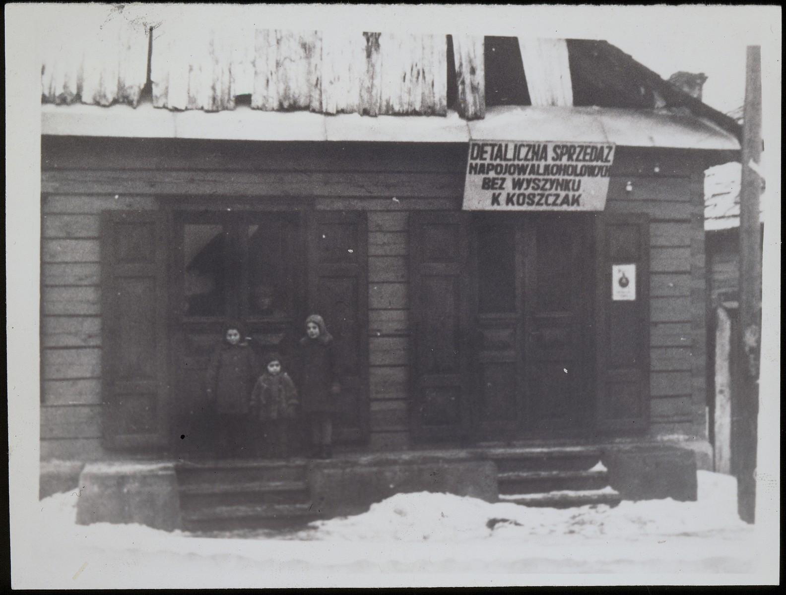 View of Koszczak's liquor store.