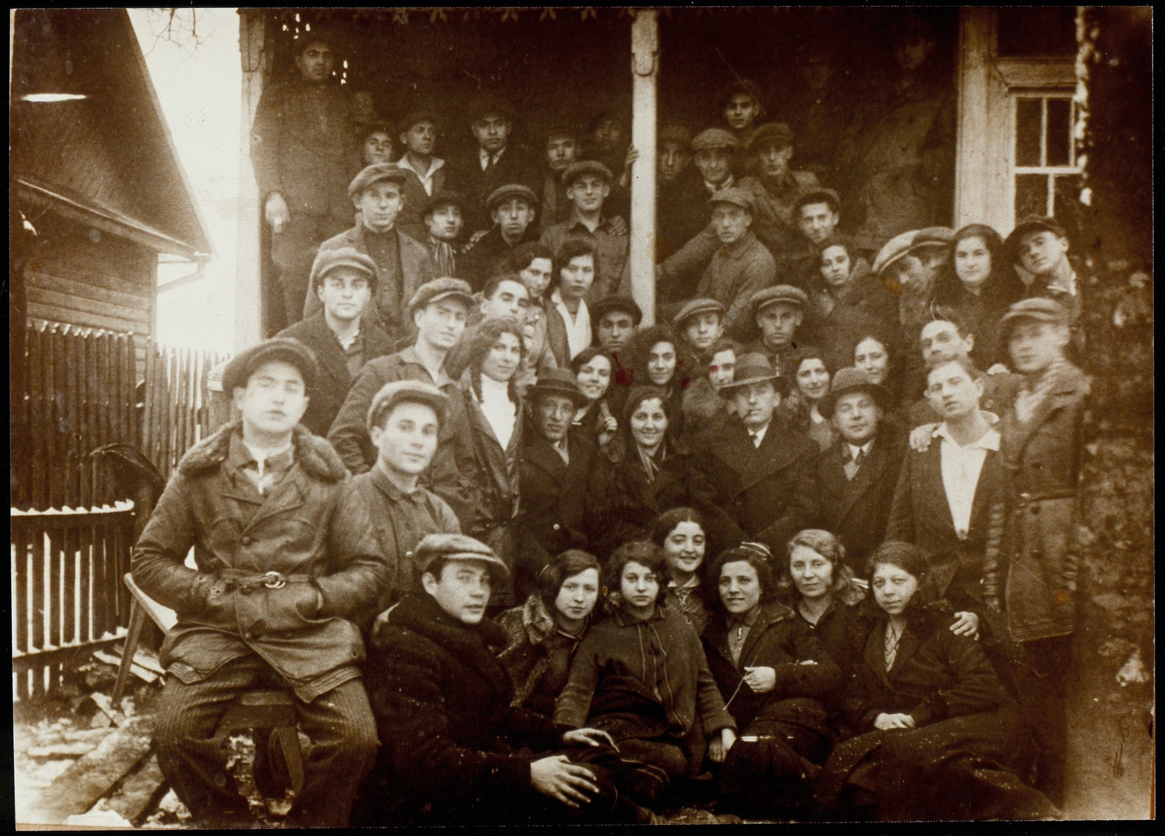 Members of Hehalutz Hamizrachi from greater Vilna.  The majority of the members immigrated to Palestine before the war.