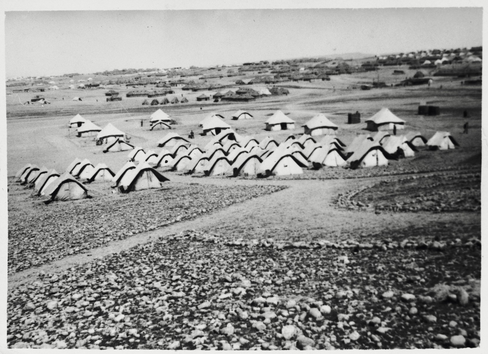 View of the military camp in the Iraqi desert where the 2nd Polish Corps (Anders Army) trained from the summer of 1942 until the summer of 1943.