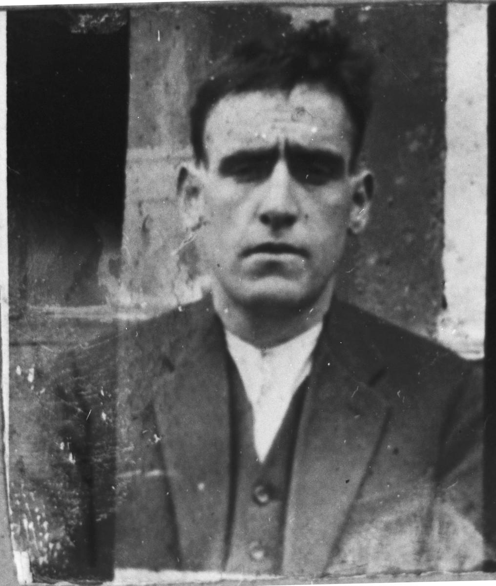 Portrait of Yosef Assael.  He was a laborer.