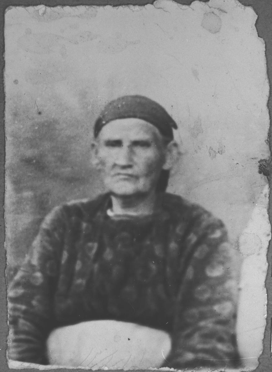 Portrait of Miriam Eschkenasi, wife of Mair Eschkenasi.  She lived at Zmayeva 1 in Bitola.