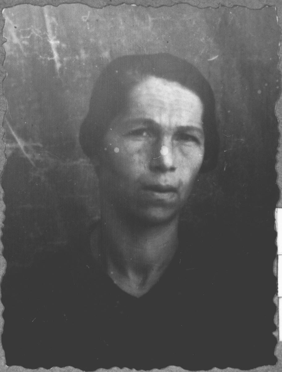 Portrait of Sol Moreno, wife of Dario Moreno.  She lived at Skopyanska 58 in Bitola.