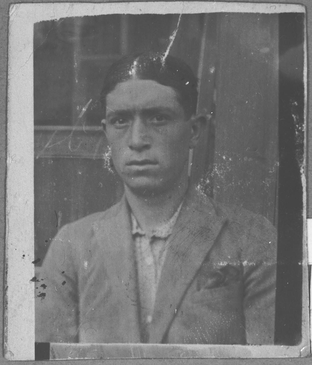 Portrait of Samuel Benjakar (from Skopje).