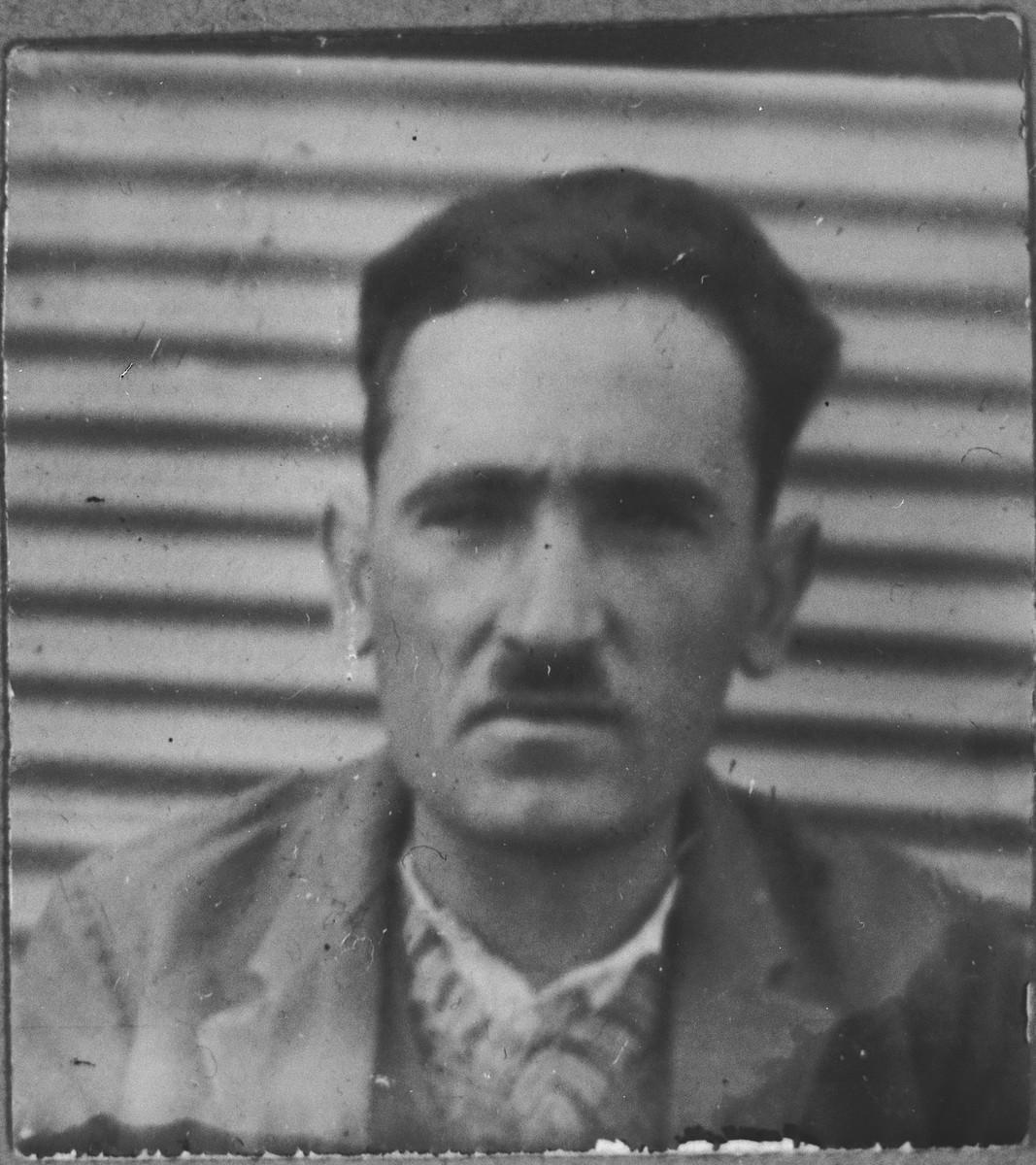Portrait of Isak Benjakar.  He was a second-hand dealer.  He lived at Novatska 4 in Bitola.