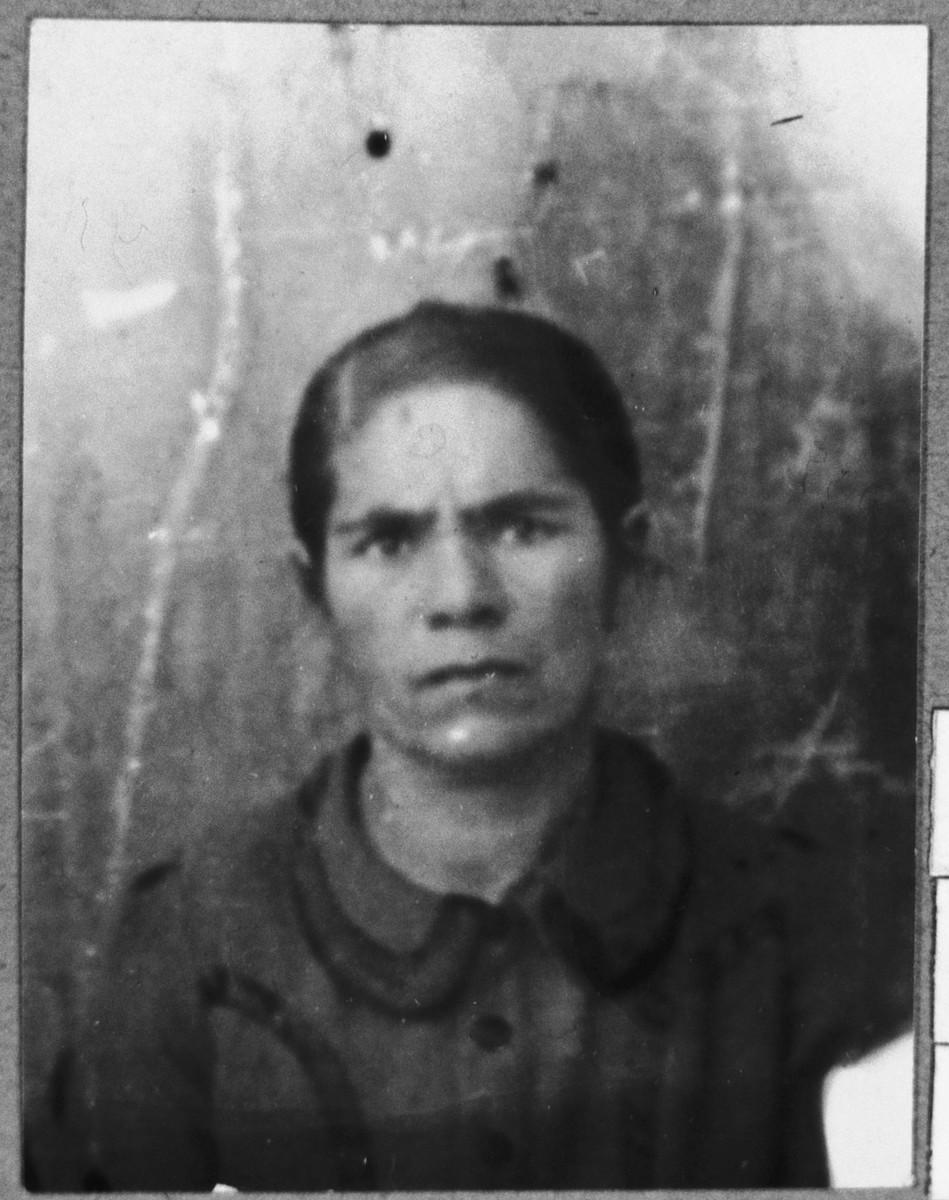 Portrait of Mari Aroesti, wife of David Aroesti.  She lived at Ferizovatska 13 in Bitola.