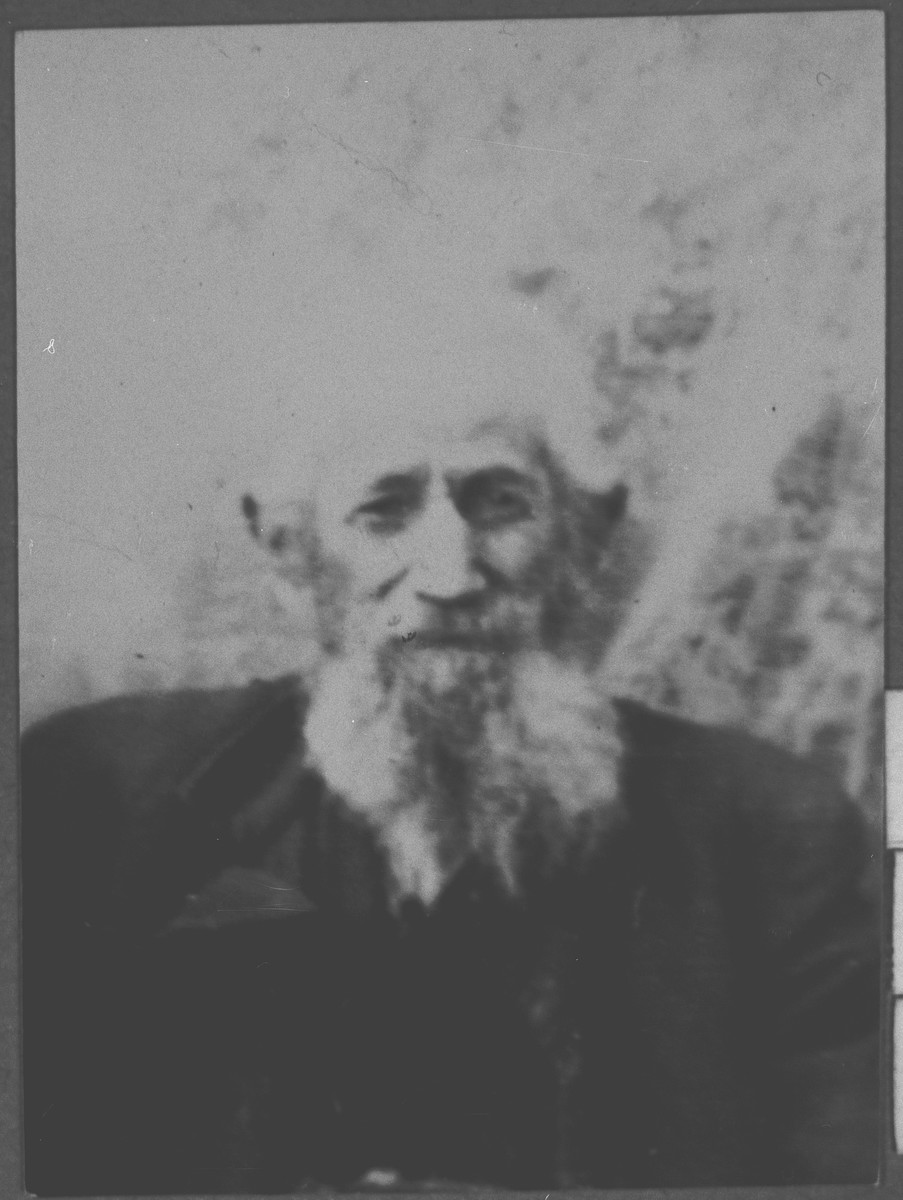 Portrait of Shua Graciano.  He was a rentier.  He lived at Sremska 3 in Bitola.