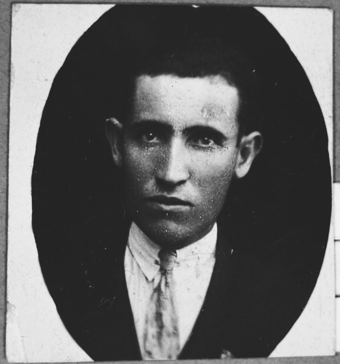Portrait of Avram Benjakar (from Zagreb), son of Yakov Benjakar.