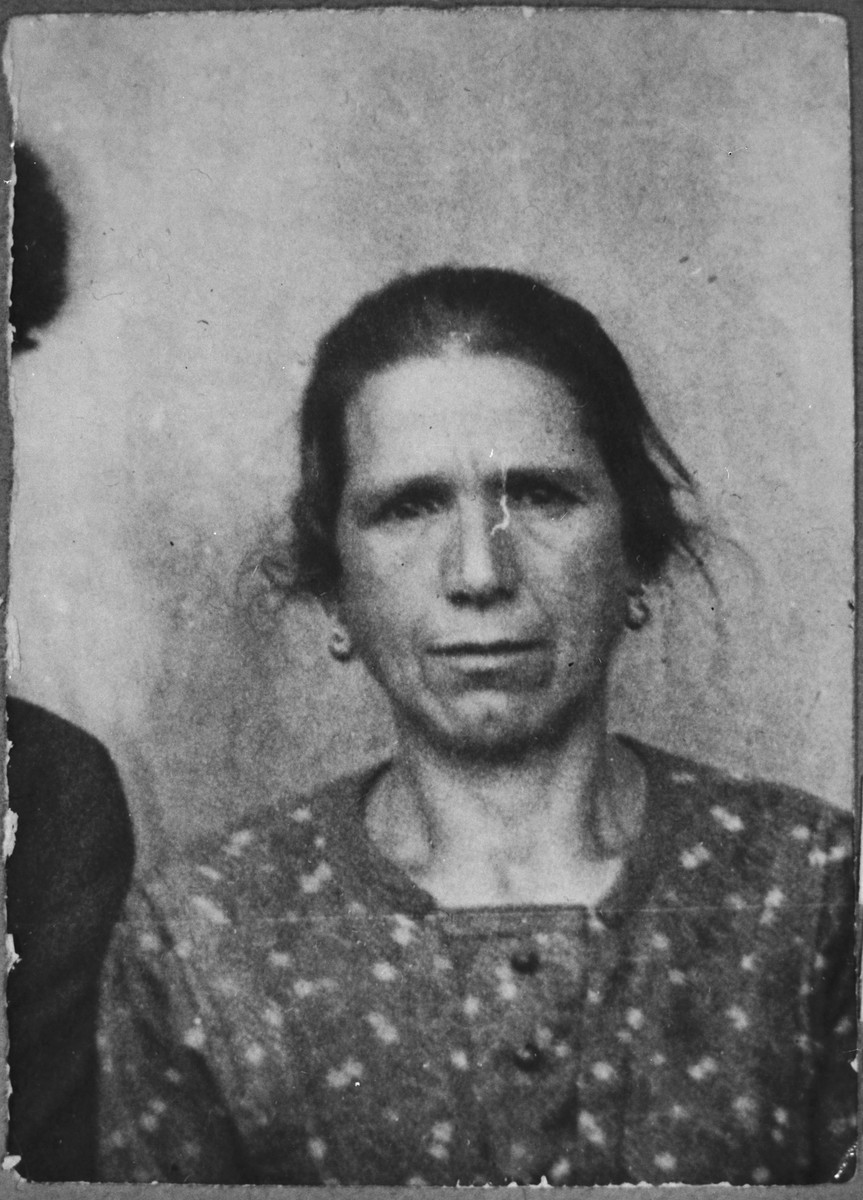 Portrait of Sol Baruch, wife of Avram Baruch.  She lived at Gligora 30 in Bitola.
