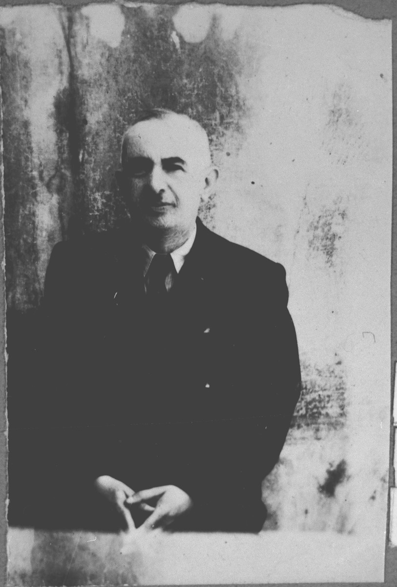 Portrait of Solomon Ergas.  He was a rentier.  He lived at Karagoryeva 52 in Bitola.