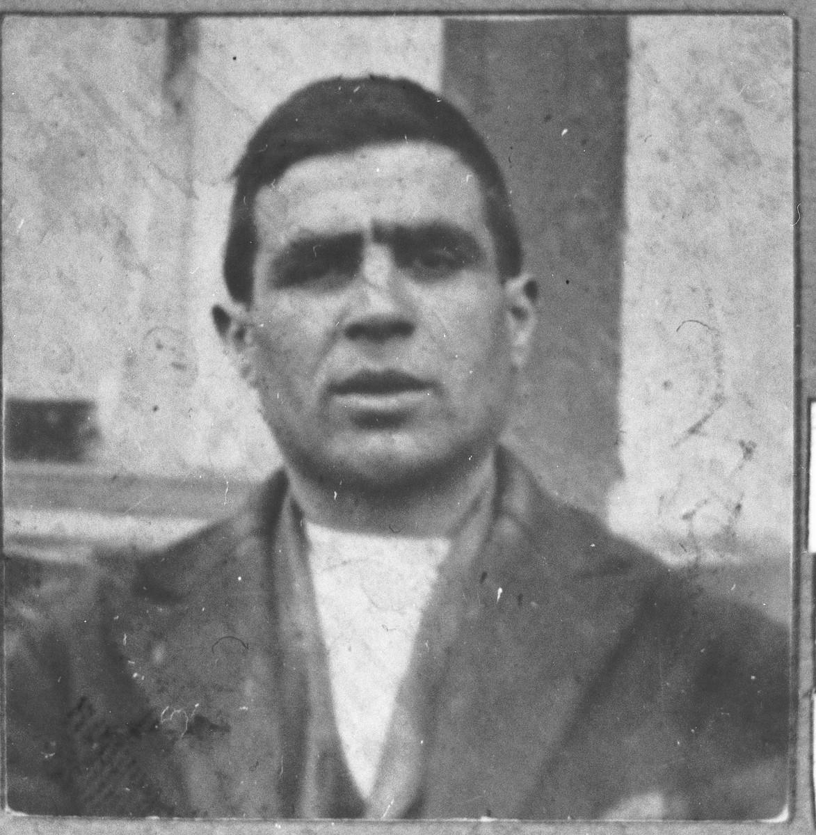 Portrait of Avram Benjakar, son of Bohor Benjakar.