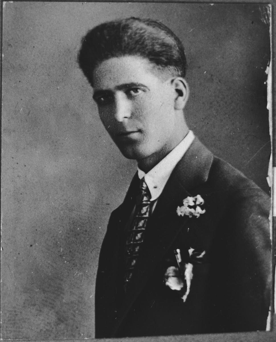 Portrait of Yosef Benjakar.