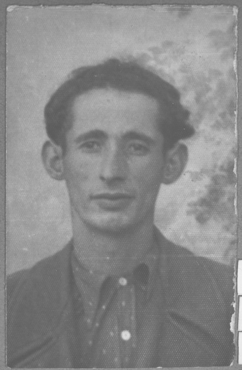 Portrait of Haim Benjakar, son of Solomon Benjakar.  He was a rag dealer.  He lived at Putnika 129 in Bitola.