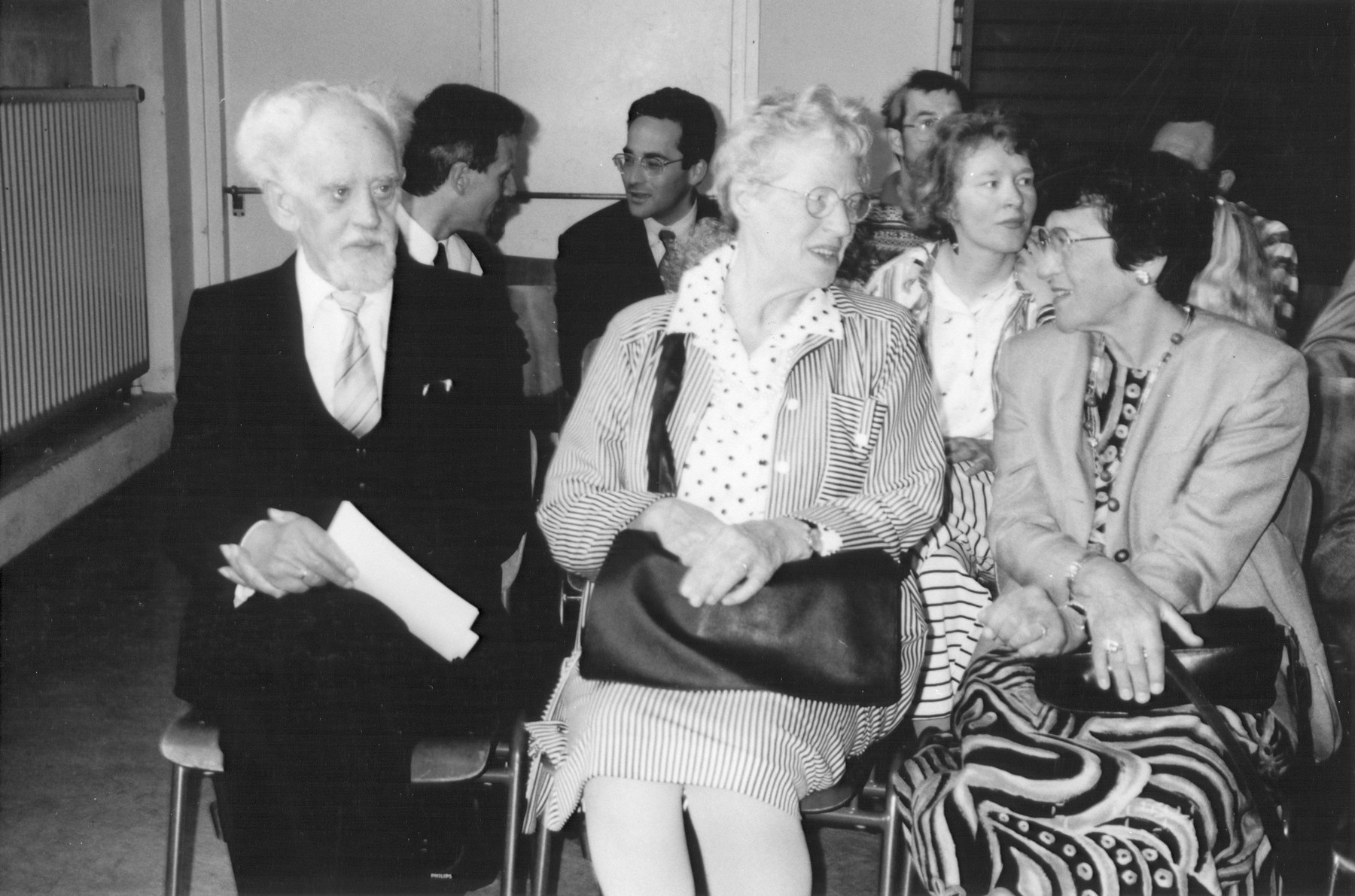 "Herman and Leida Migchelbrink and Suse Schwarz attend the ceremony honoring the Migchelbrinks as among the ""Righteous Among the Nations""."