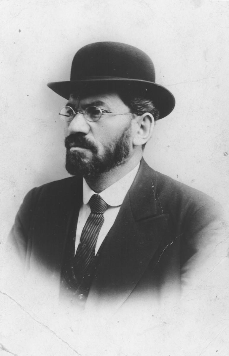 Portrait of Menachem Mendel Beilis.