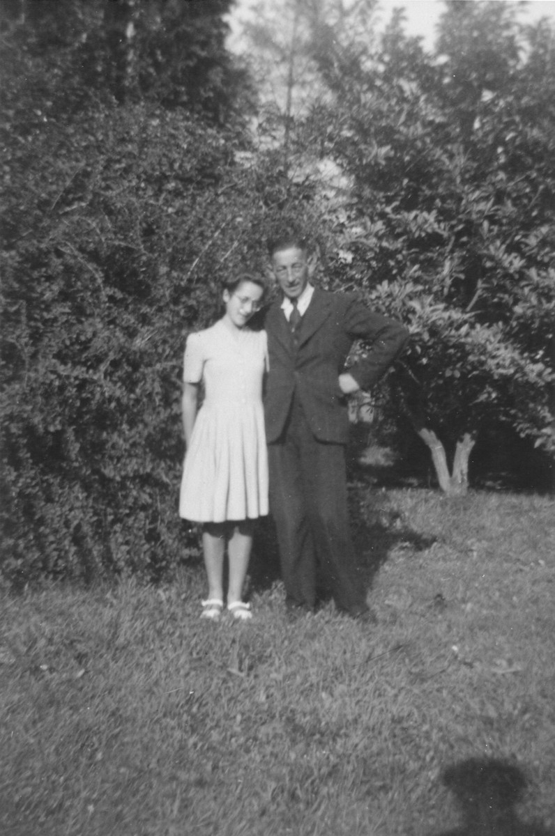 Suse and her father, Max Grunbaum shortly after liberation.