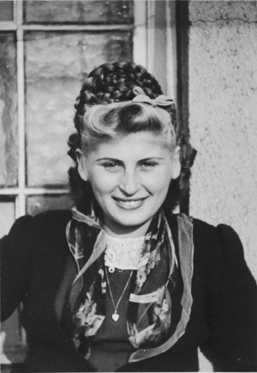 Portrait of Serafina Strasser.