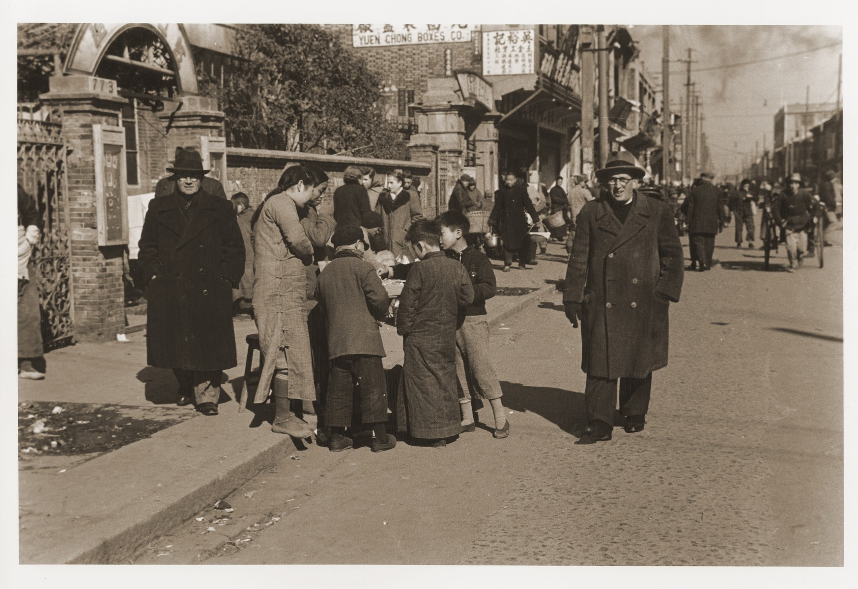 Jewish refugees on Tongshan Road.