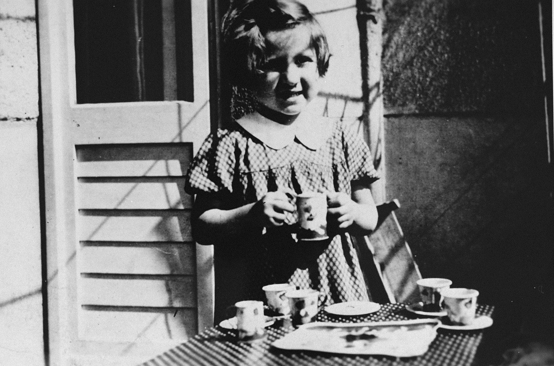 Portrait of Evelyn (Evy) Goldstein as a hidden child in Berlin.