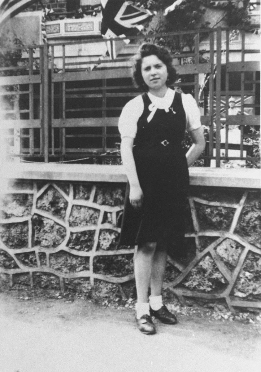 A photo of Marcelle Burakowski taken by Mme. Godin, a private teacher, at the time of liberation, 1944.