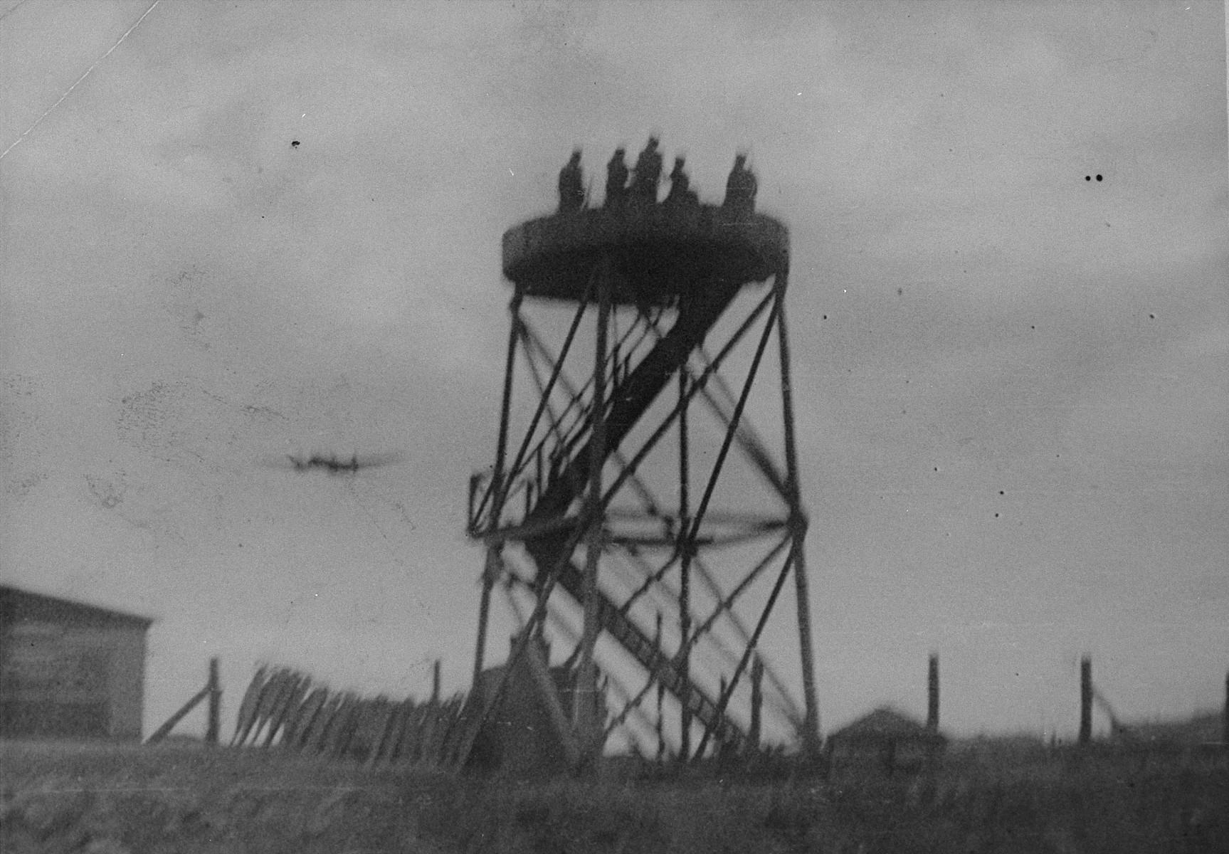 An American bomber over Plaszow.