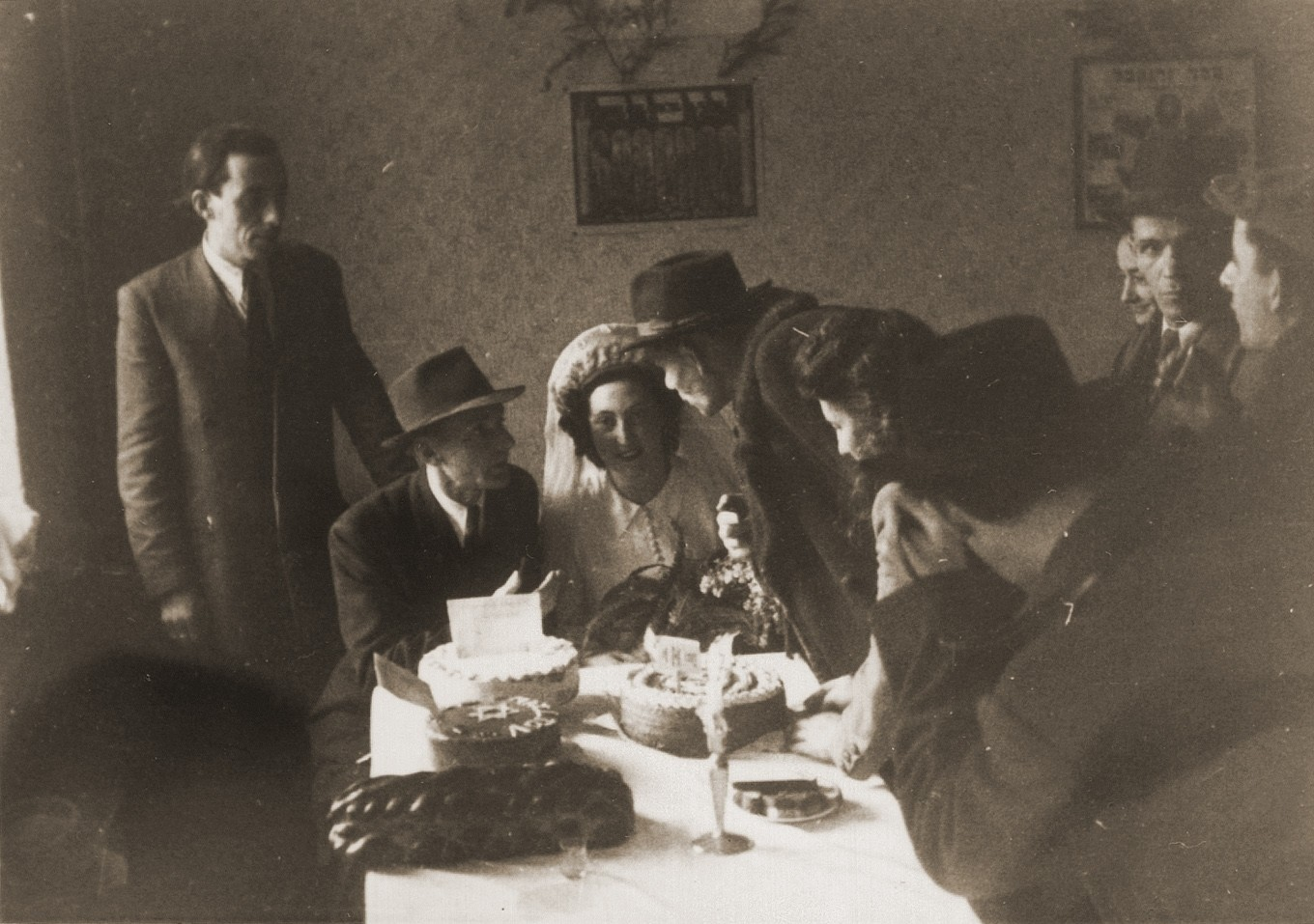 The wedding of Ibby Neuman and Max Mandel at the Bad Reichenhall displaced persons' camp.