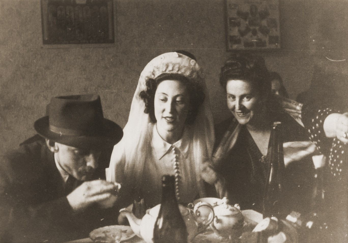 The wedding of Ibby Neuman and Max Mandel at the Bad Reichenhall displaced persons' camp.  They were cousins of the wife of Ben Ferencz. Gertrude Fried from Satu-Mare.