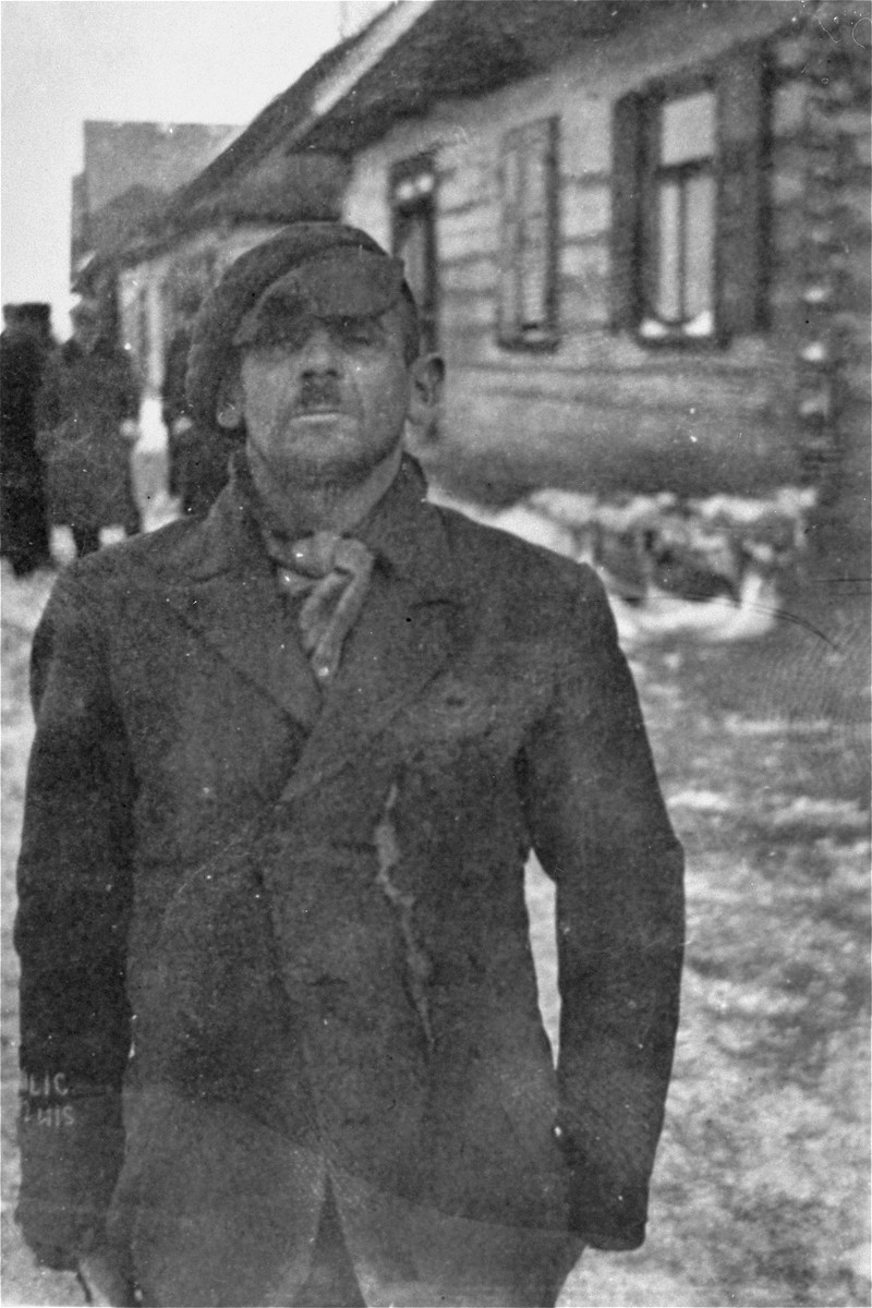 Portrait of a Jewish policeman in the Wisznice ghetto.
