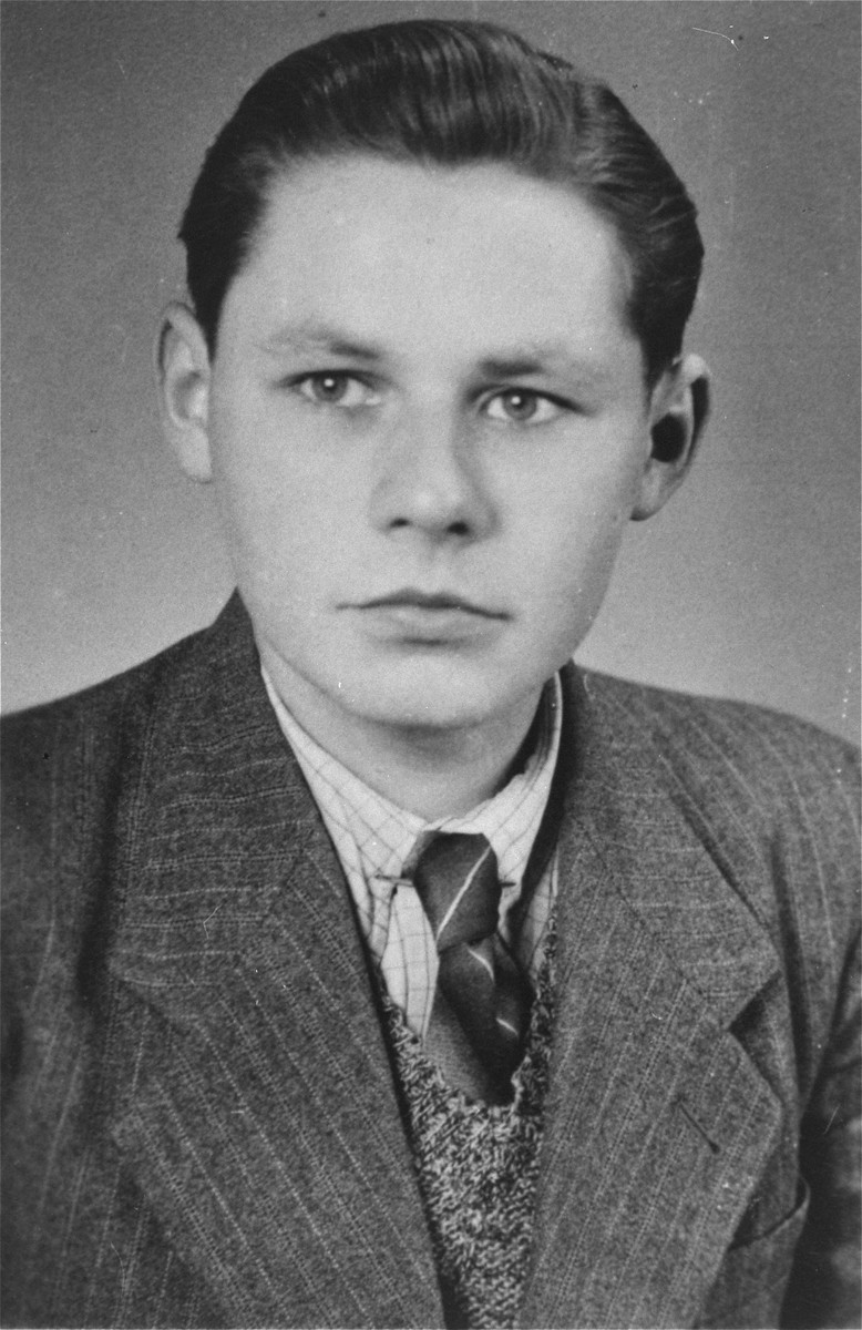 "Hans-Werner Kusserow in Bad Lippspringe one year after his liberation.    Hans-Werner, his brother Paul-Gerhard, and his sister Elisabeth were forcibly removed from school and separated from their family on 7 March 1939 because of ""spiritual and moral neglect"" as a result of their parents' being Jehovah's Witnesses."