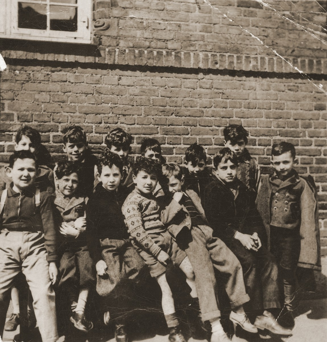 Pupils of the Mosaik School for Boys.    Seated in the front row center is Gus Goldberger.   The Mosaik School for Boys and the Caroline School for Girls were established in the beginning of the nineteenth century for the purpose of acculturating the children of Russian Jewish immigrants into Danish culture.  Though most of the teachers were not Jewish, the school also taught Jewish history and religion.