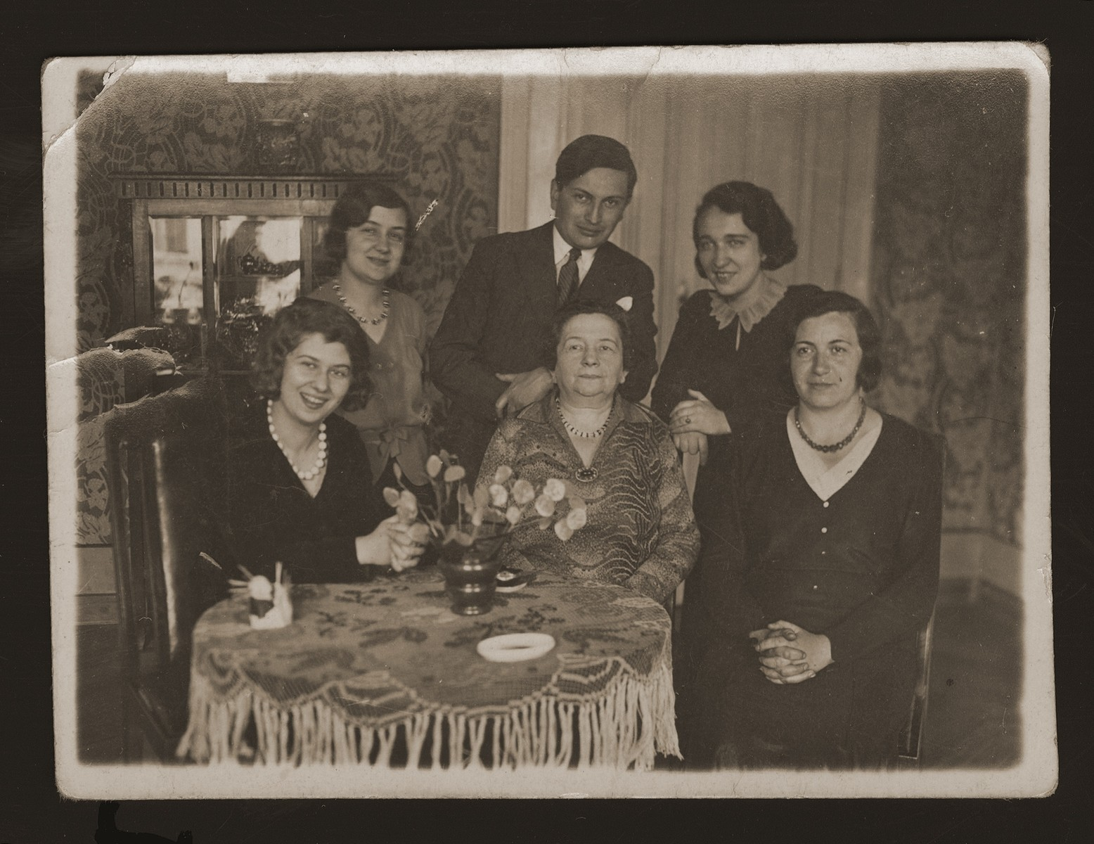 Prewar family portrait of the Erlich family in their home in Katowice.