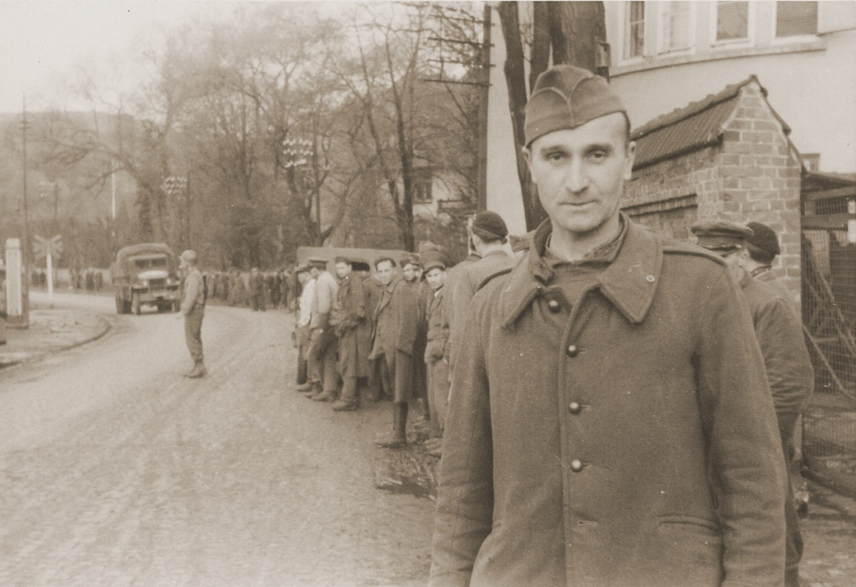 Displaced persons in Dillenburg after the liberation of the area by U.S. troops.
