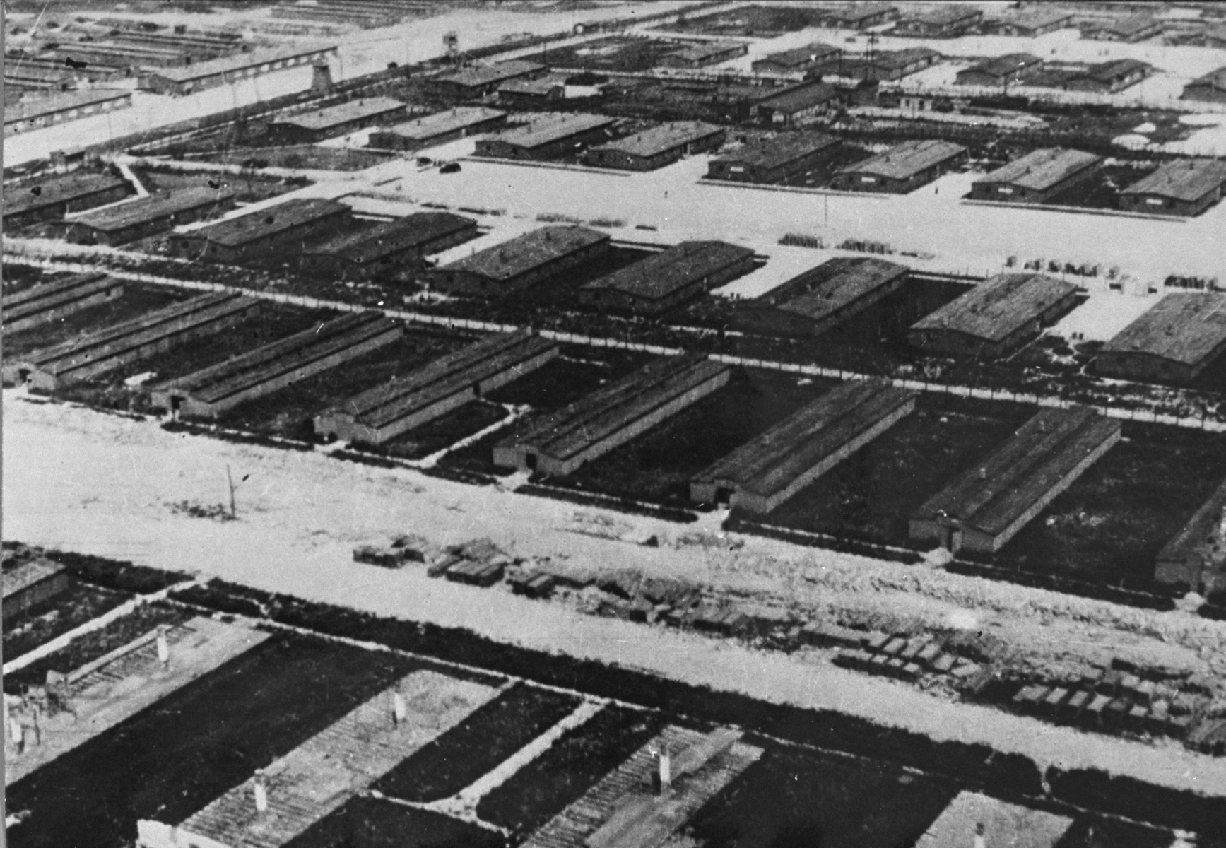 An aerial view of the camp.
