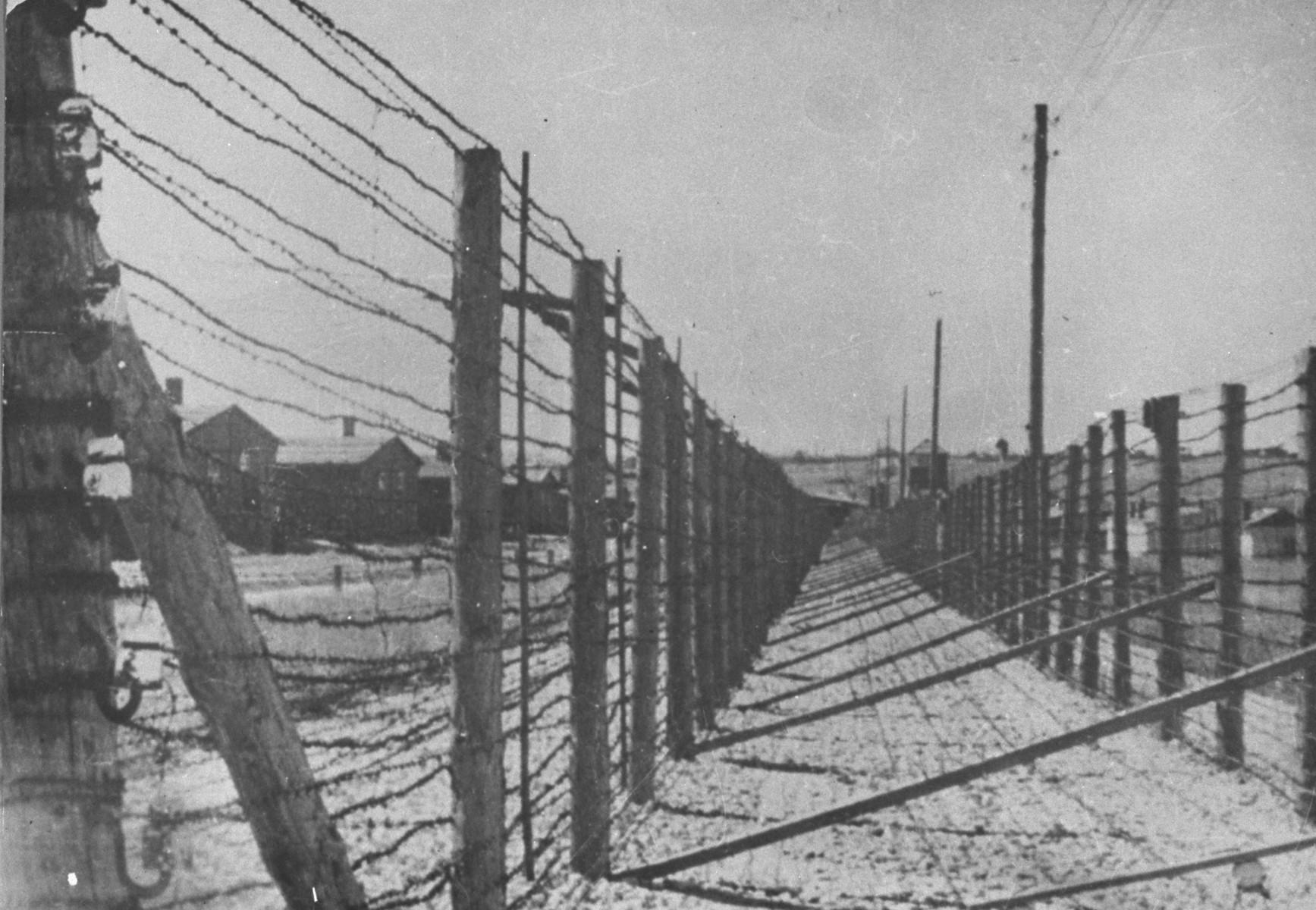 A view of the fences that enclosed Majdanek.