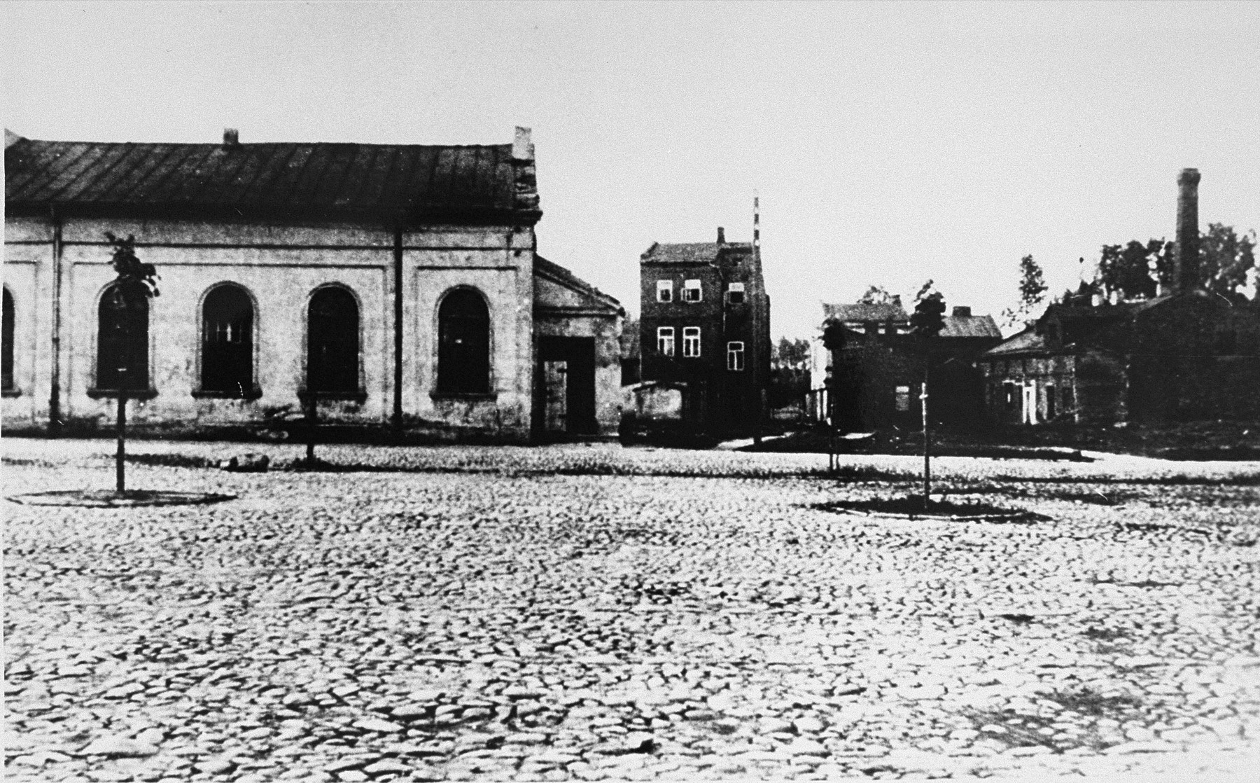 A synagogue in Kolo, a town near Chelmno, where Jews were kept until they could be loaded into gas vans, executed, and cremated at Chelmno.