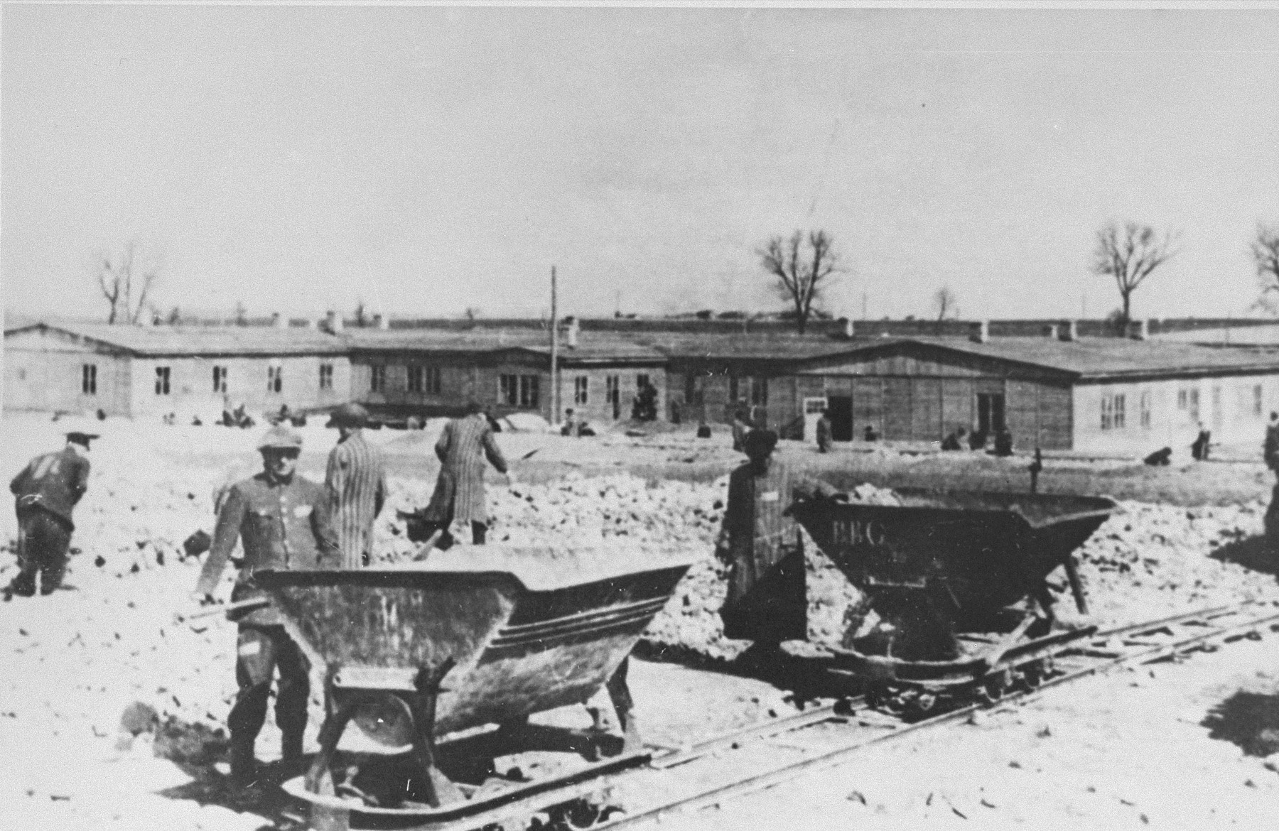 Prisoners at forced labor at the Majdanek concentration camp.