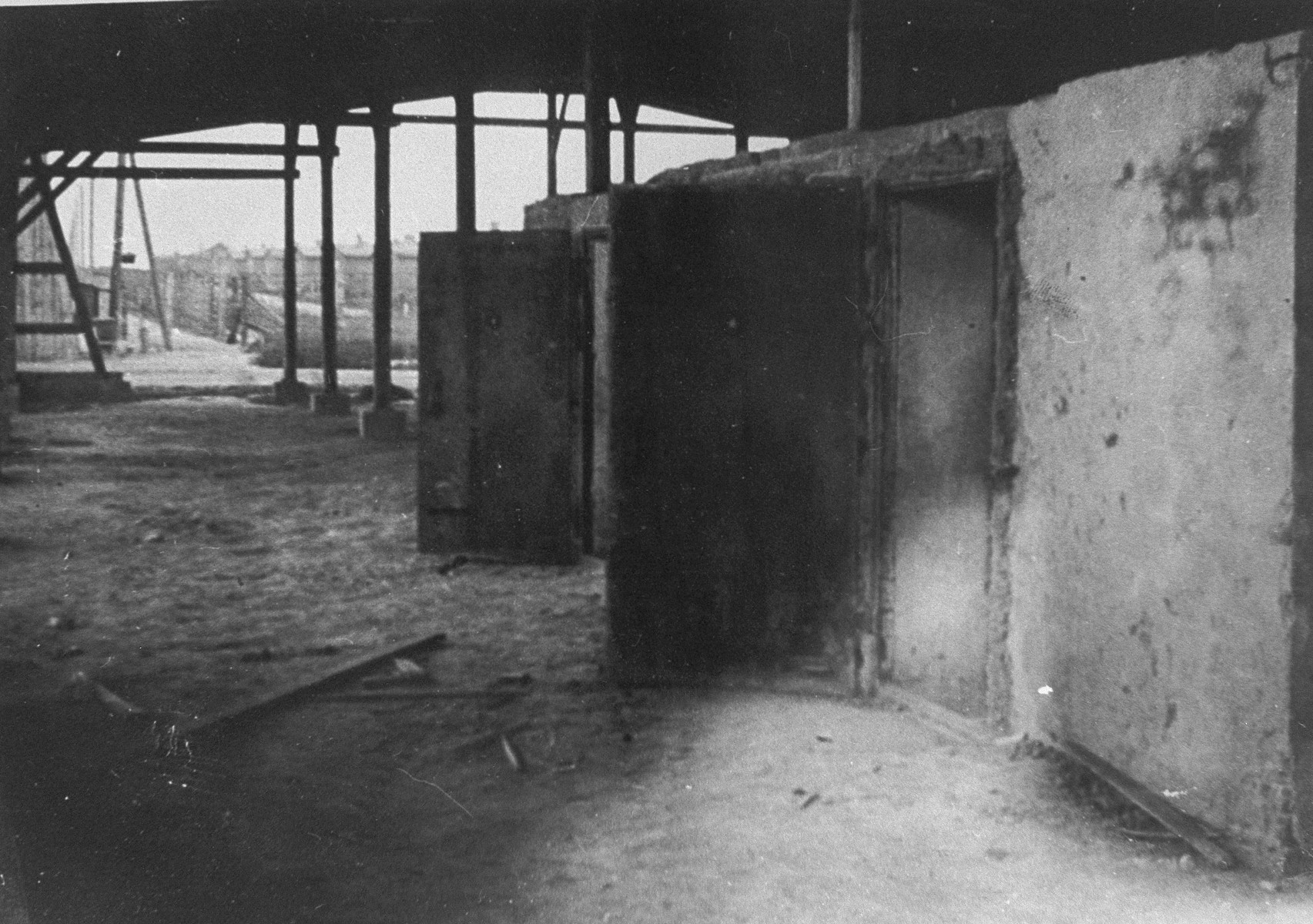 View of the gas chambers at Majdanek after the liberation.
