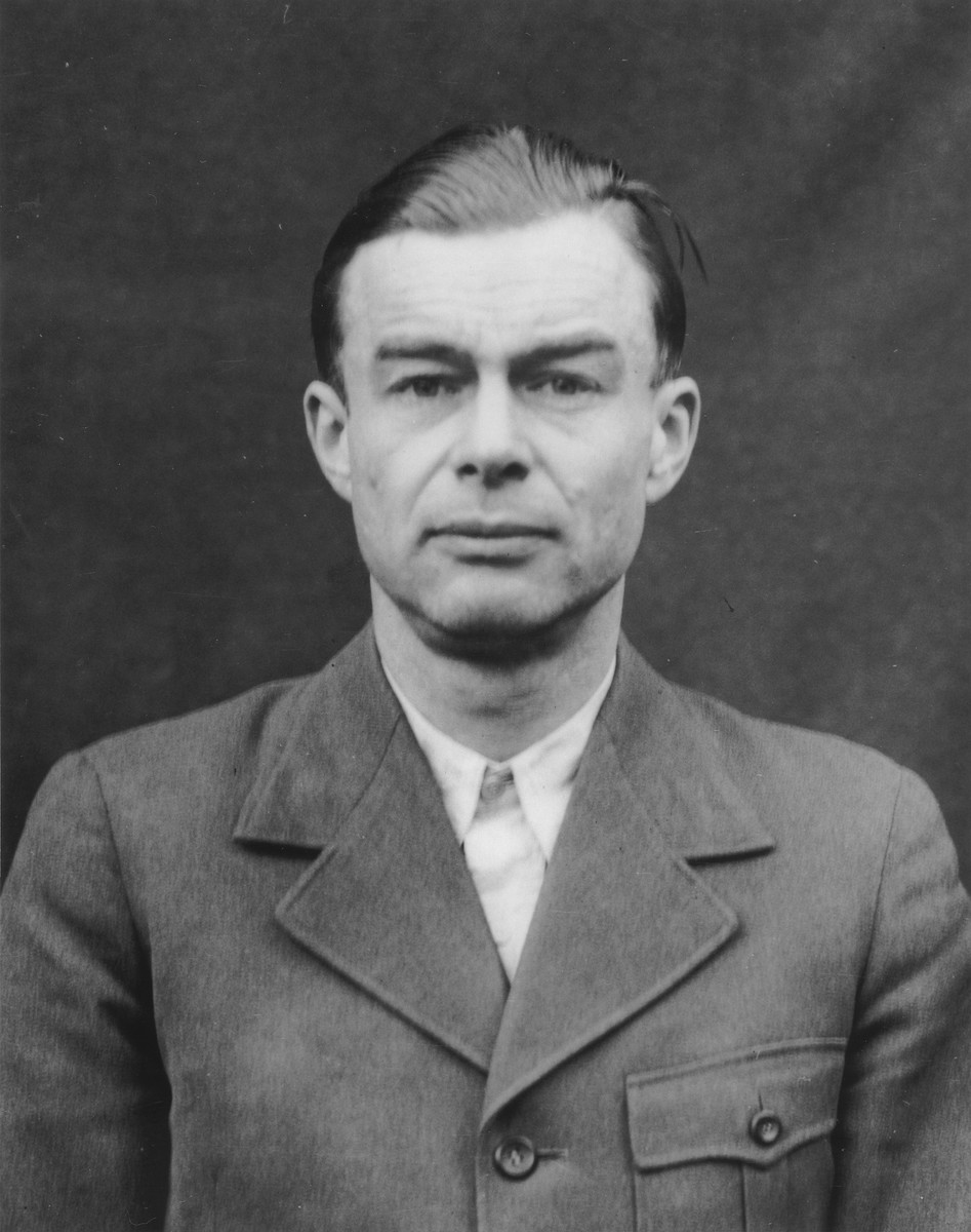 Portrait of Siegfried Ruff as a defendant in the Medical Case Trial at Nuremberg.