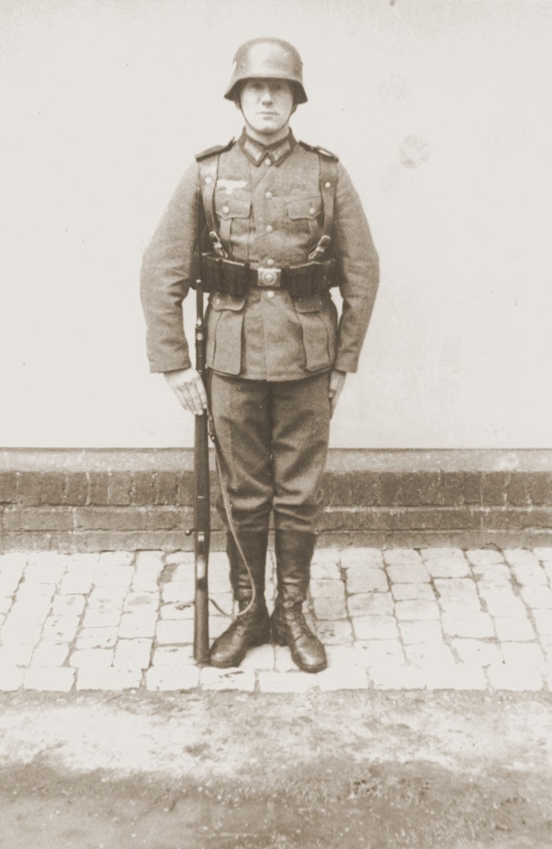 Viktor Stern in the combat uniform of the Wehrmacht.