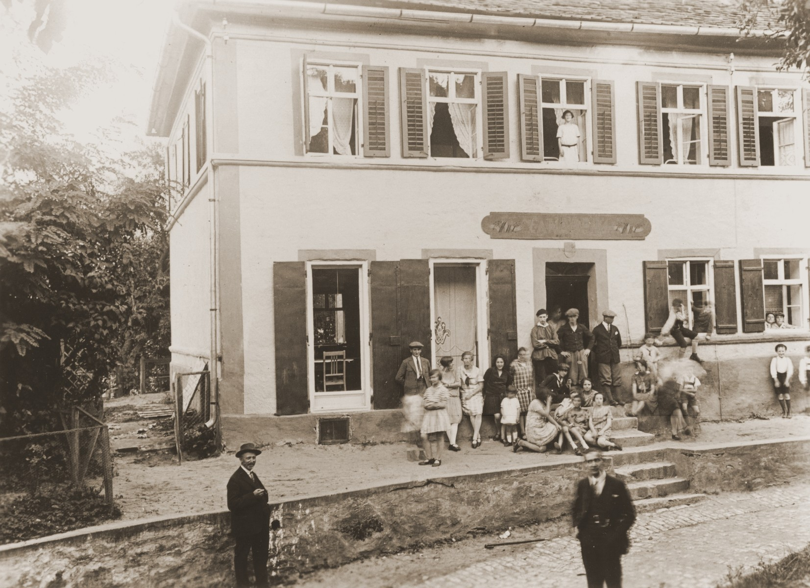 Orthodox German Jews enjoy a holiday at the Ezra Haim vacation home in Sulzbuerg, maintained by the Ezra youth movement.
