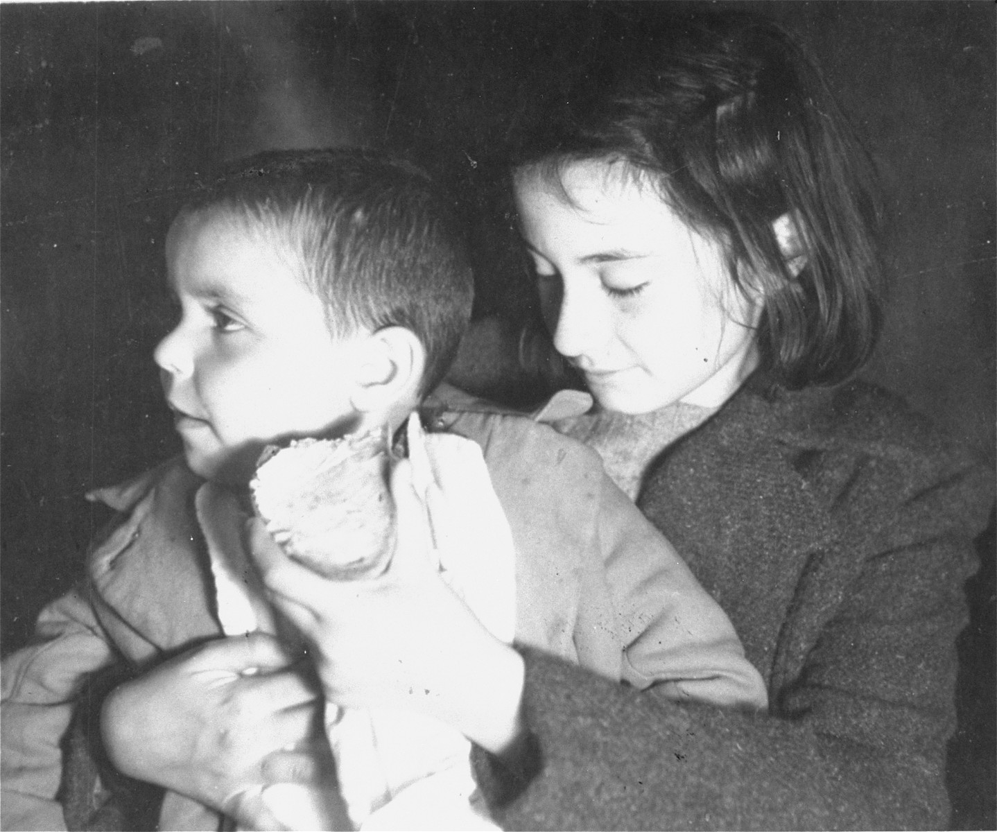 Close-up of two Teheran children.