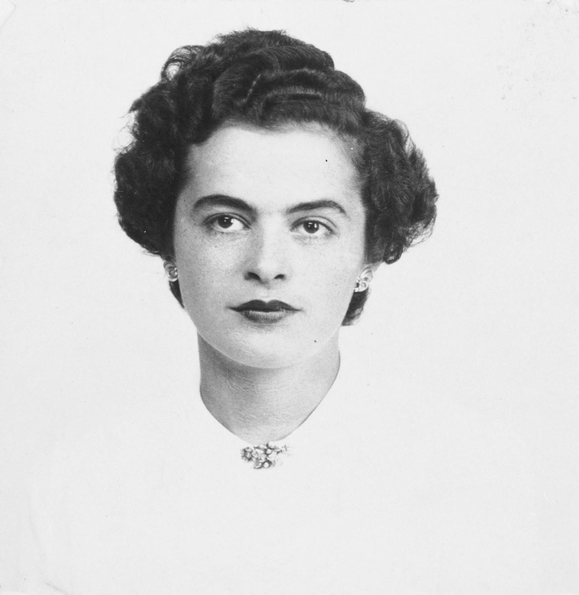 Portrait of Manya Moszkowicz.