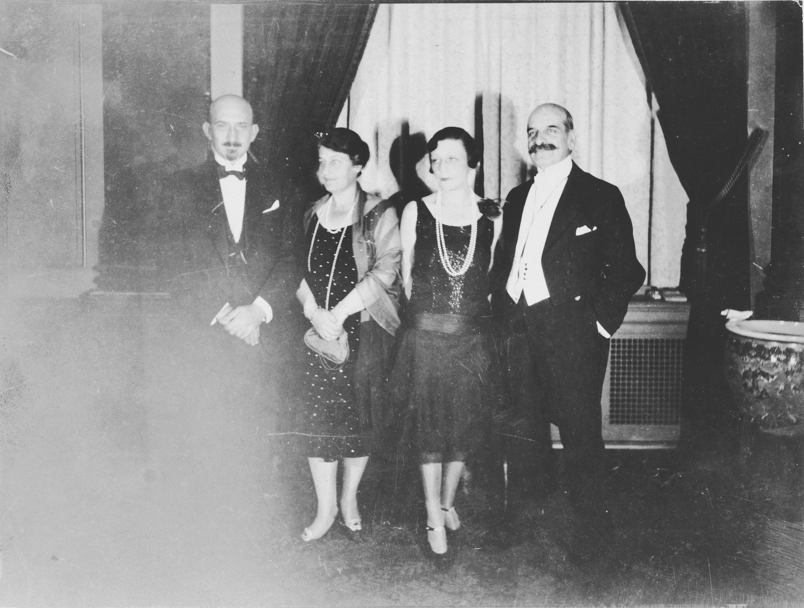 Mr. and Mrs. Felix Warburg and Dr. and Mrs. Chaim Weizman meet in Boston at a conference of the United Palestine Appeal.