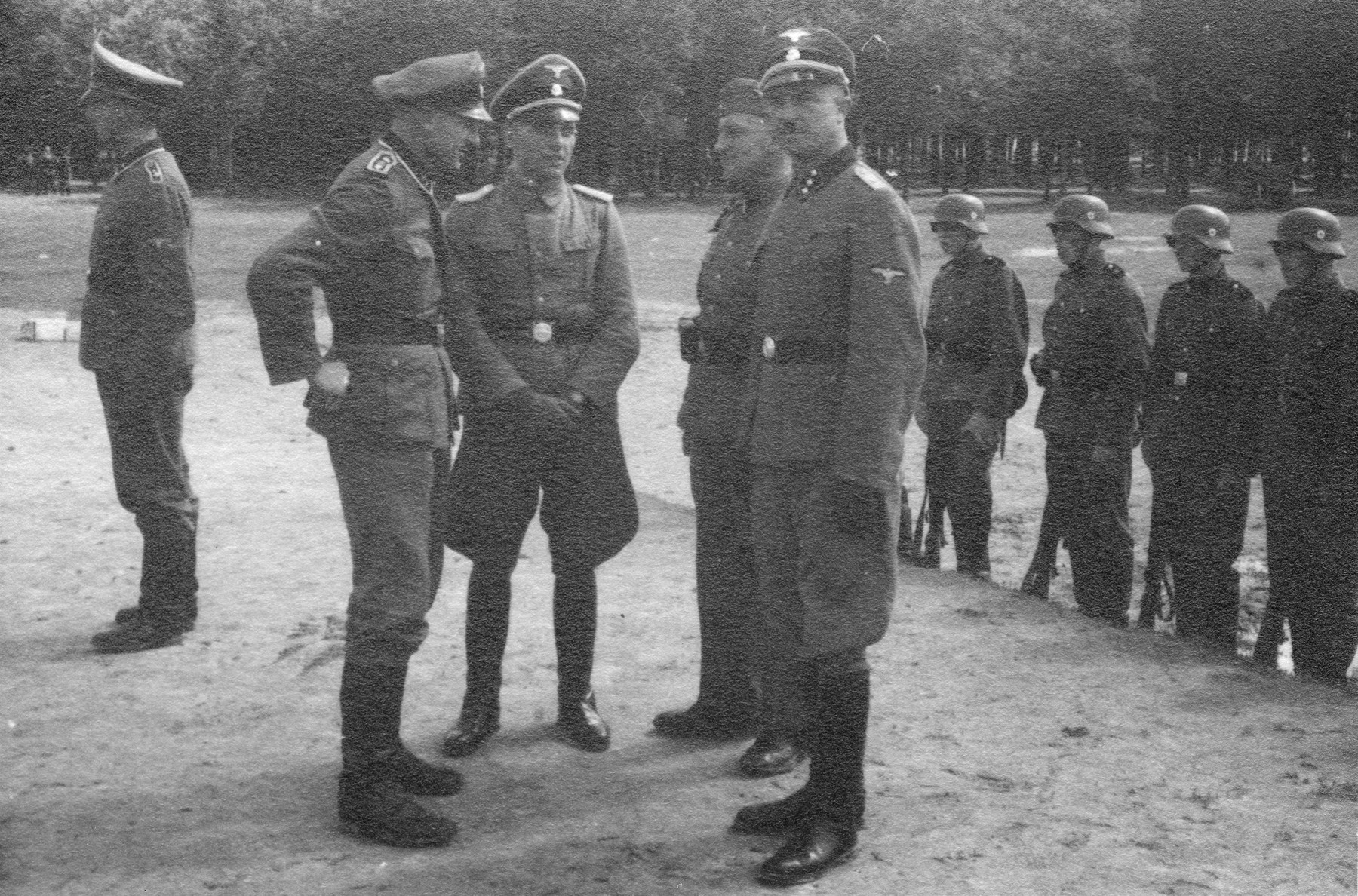 Members of the Waffen-SS in occupied Poland.