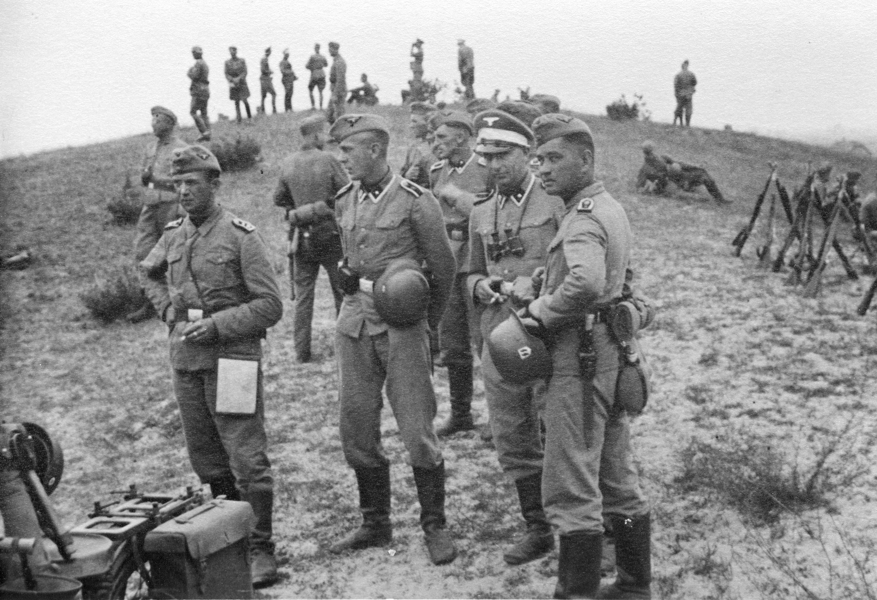 Members of the Waffen-SS during training in occupied Poland.
