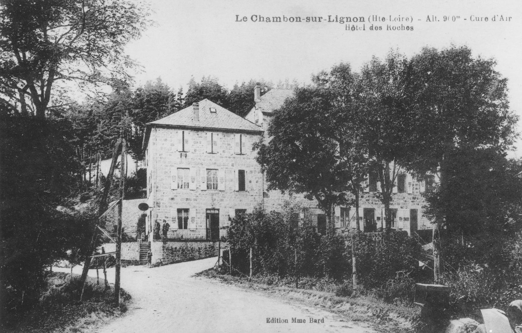 Picture postcard of the Hôtel des Roches in Le Chambon-sur-Lignon.