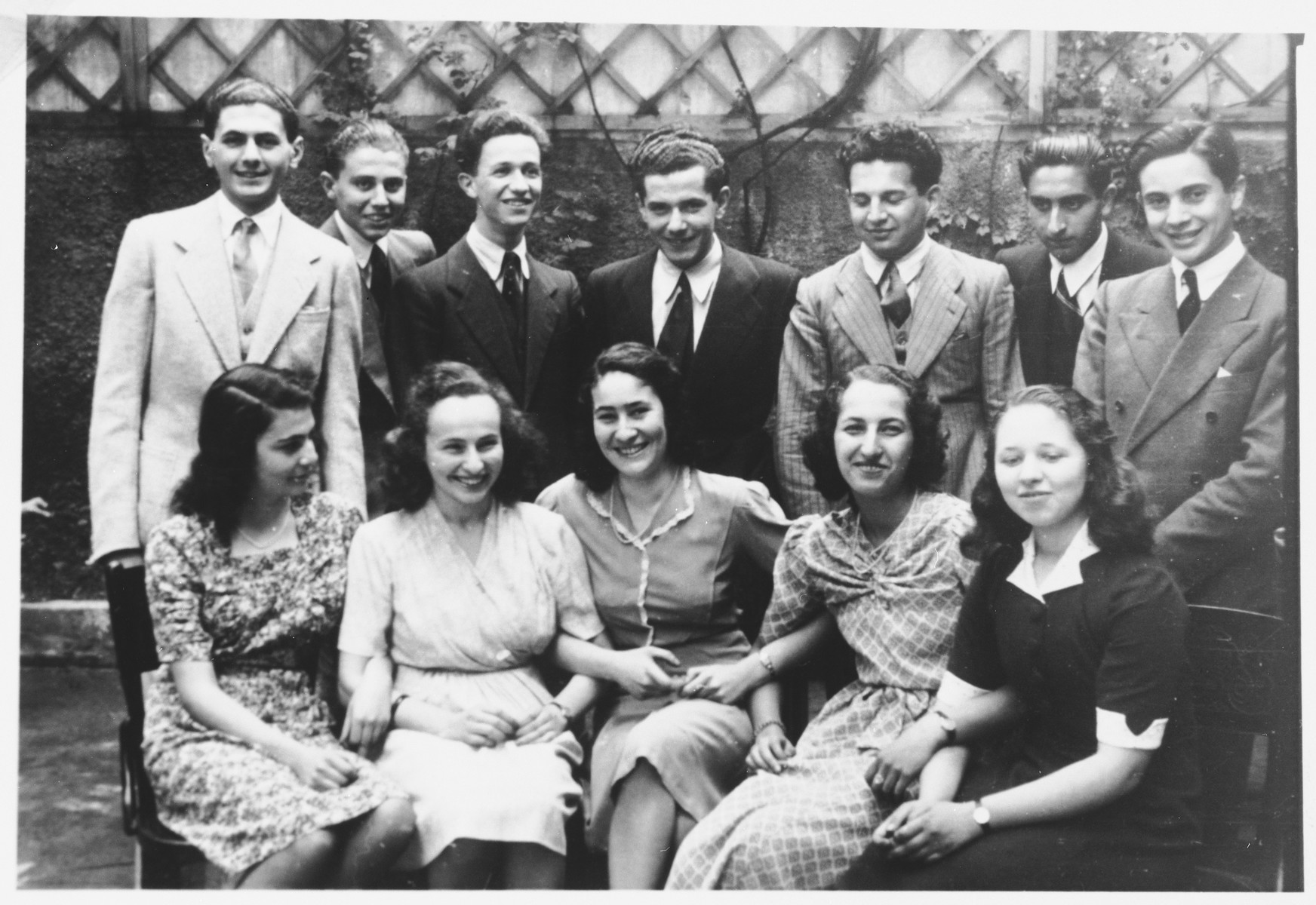 Students in the Jewish high school in Milan.  Anna Falco is pictured on the bottom row, second from the right.